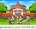 student schoolboy schoolgirl 43494181