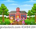 student schoolboy schoolgirl 43494184