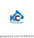 Letter K and C initial excavator 43494324