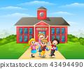 schoolboy schoolgirl school 43494490