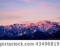 매 사냥 산에서 바라 보는 북 알프스의 산맥 43496819