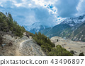 mountain, sky, path 43496897