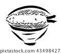 붓으로 그리는 요리 일러스트 天ぷらそば 43498427
