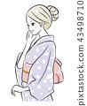 Yukata woman 43498710