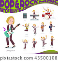 flat type blond hair business women_pop music 43500108
