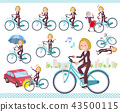 flat type blond hair business women_city cycle 43500115