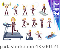 flat type blond hair business women_exercise 43500121
