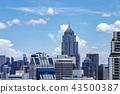 빌딩, 도시, 방콕, 사무실, 아파트, 콘도, 건물, 고층 빌딩, 풍경, 비즈니스, 도시, 도쿄, 43500387