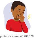 Black Man Coughing 43501079
