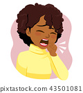 Black Woman Coughing Ill 43501081