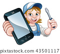 Electrician Handyman Phone Concept 43501117