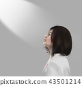 Asian woman crying with tear of blood 43501214