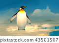 a emperor penguin standing on ice 43501507