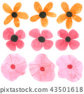 Flowers watercolor collection on white background  43501618