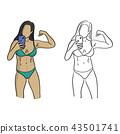 healthy woman with bikini taking selfie vector 43501741