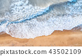 Aerial view on the waves. 43502109