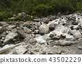 Small wooden bridge across a stream, Uttarakhand 43502229