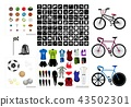 Collection of Sport Equipment Icons 43502301