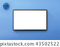 LCD Television in Blue color wall room 43502522