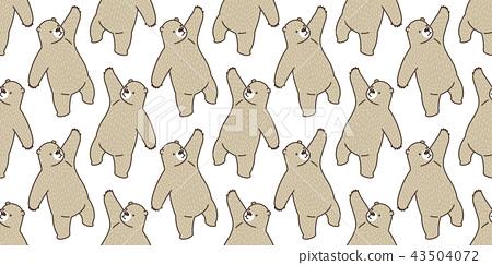 Bear seamless pattern vector panda polar bear 43504072