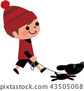 아이와 강아지 산책 43505068