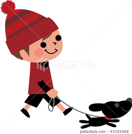 Child and dog walk 43505068