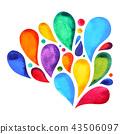 7 color of chakra mandala symbol concept, flower 43506097