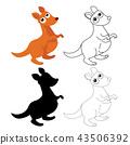 袋鼠 儿童 孩子 43506392