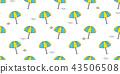 umbrella beach seamless pattern vector isolated  43506508