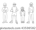 person activities vector doodle drawing sketch 43506582