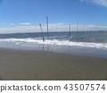 노란 해수욕장 표시 부표 43507574
