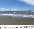 노란 해수욕장 표시 부표 43507575