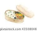 黃豆米飯 便當 日式便當 43508048