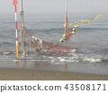 노란 해수욕장 표시 부표 43508171