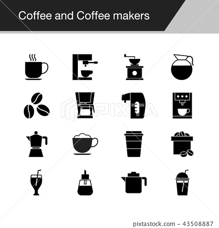 Coffee and Coffee makers icons.  43508887