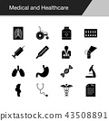 Medical and Healthcare icons.  43508891