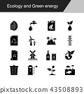Ecology and Green energy icons.  43508893