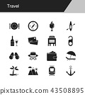 Travel icons.  43508895