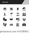 Summer icons.  43508901