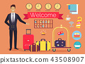 Welcome Hotel Services on Vector Illustration 43508907
