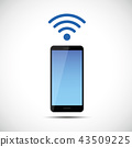 free wi-fi symbol smartphone mobile phone 43509225