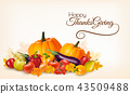 Happy Thanksgiving background with leaves  43509488