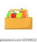 wicker basket picnic 43509612