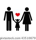 family icon on the white background 43510679