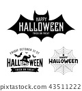 Happy Halloween black and white design collections 43511222