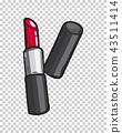Classic Red Glossy Lipstick Isolated Illustration 43511414