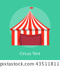 Circus Tent Poster Striped Awning for Performances 43511811