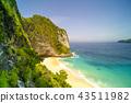 Kelingking Beach on Nusa Penida Island, Bali 43511982