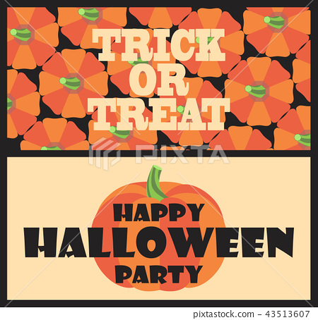 Trick or Treat Happy Halloween Party Postcard 43513607
