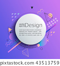 Circle frame on gradient background. 43513759